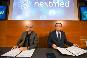 Campus Nextmed; technologies medicales; signature convention financement; Ircad; Afterwork;  Robert Herrmann; Catherine Trautmann; Frederic Bierry; Pr Jacques Marescau;